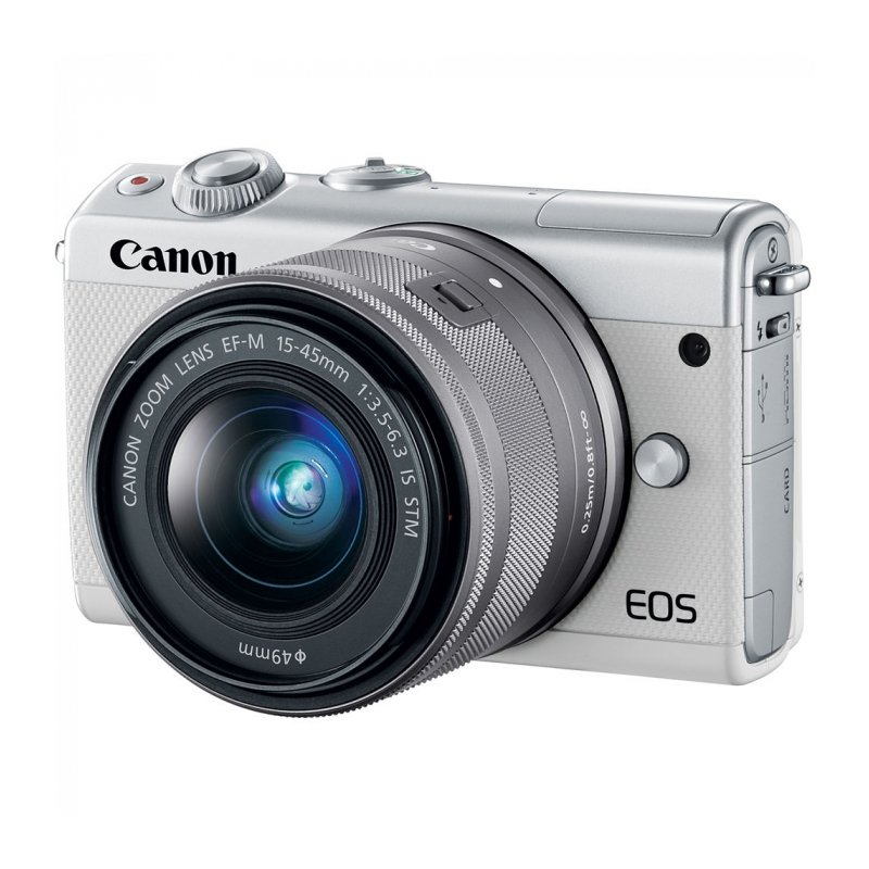 Цифровая фотокамера Canon EOS M100 Kit EF-M 15-45mm f/3.5-6.3 IS STM Silver