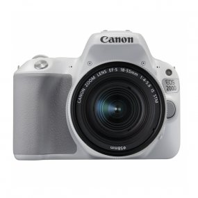 Зеркальный фотоаппарат Canon EOS 200D Kit EF-S 18-55mm f/4-5.6 IS STM белый