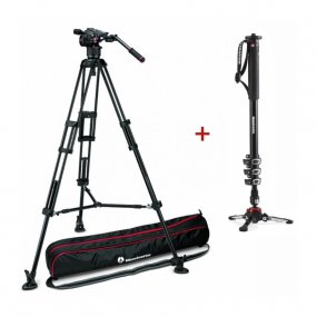 Штатив MANFROTTO 546B + головка Nitrotech N8 + монопод MVMXPROA4 (MVKN8TWINM+MVMXPROA4)