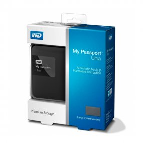 "Внешний жёсткий диск WD My Passport Ultra WDBDDE0010BBK-EEUE 1000ГБ 2,5"" 5400RPM USB 3.0 Black"