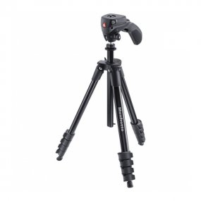 Штатив Manfrotto MKCOMPACTACN-BK (Compact Action) с головой, черный