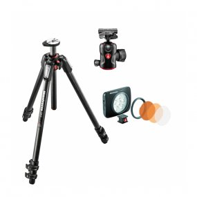 Штатив Manfrotto MT055CXPRO3 + Manfrotto MH496-BH + Manfrotto MLUMIEART-BK LED Lumie Art